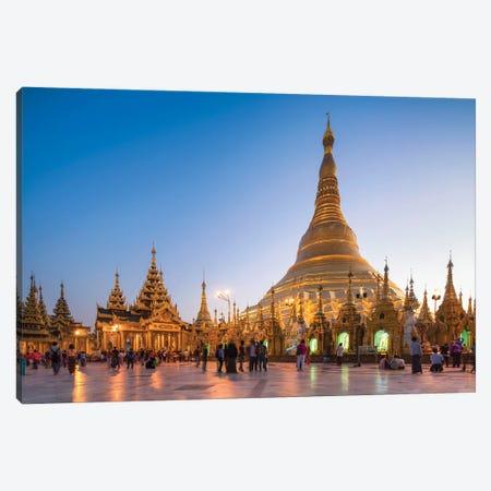 Golden Shwedagon Pagoda In Yangon, Myanmar Canvas Print #JNB1185} by Jan Becke Canvas Artwork
