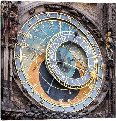 Astronomical Clock In Prague, Czech Republic Canvas Art Print