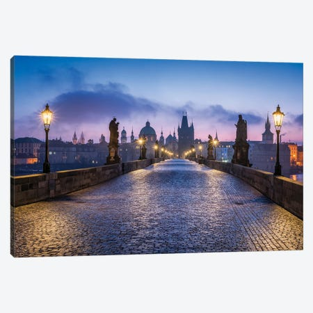 Charles Bridge In Prague, Czech Republic Canvas Print #JNB1190} by Jan Becke Canvas Artwork