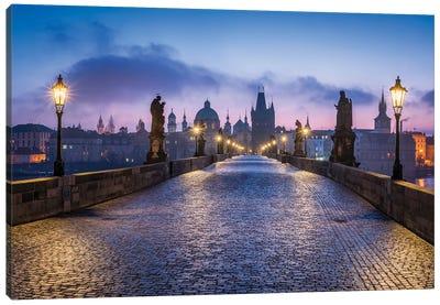 Charles Bridge In Prague, Czech Republic Canvas Art Print