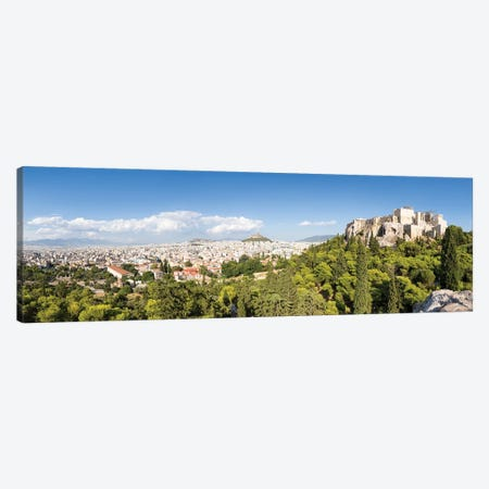 Panoramic View Of Athens With Acropolis And Lykabettus Hill, Greece Canvas Print #JNB1196} by Jan Becke Canvas Art Print