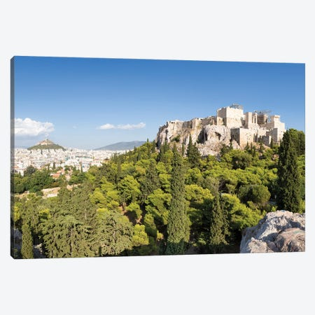 Acropolis Of Athens And Lykabettus Hill, Greece Canvas Print #JNB1197} by Jan Becke Canvas Print