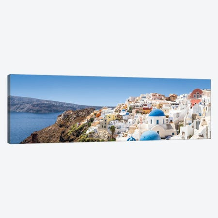 Panoramic View Of Oia And The Caldera, Santorini, Greece Canvas Print #JNB1203} by Jan Becke Canvas Art