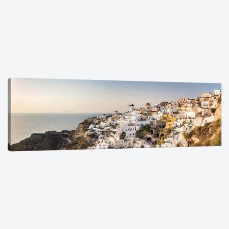 Panoramic View Of Oia At Sunset, Santorini, Greece Canvas Print #JNB1205} by Jan Becke Art Print