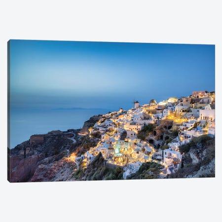 Town Of Oia At Night, Santorini, Greece Canvas Print #JNB1206} by Jan Becke Canvas Print