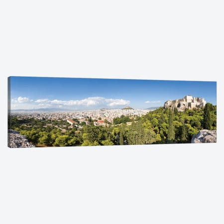 Panoramic View Of Athens With Acropolis And Lykabettus Hill In The Distance, Greece Canvas Print #JNB1212} by Jan Becke Canvas Art Print