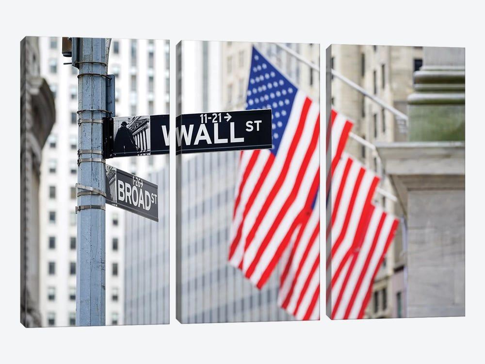 Wall Street by Jan Becke 3-piece Canvas Art