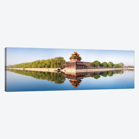 Watchtower Of The Forbidden City In Beijing 3-Piece Canvas #JNB123} by Jan Becke Canvas Art