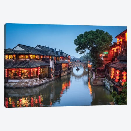 Xitang Water Town, Zhejiang Province Canvas Print #JNB124} by Jan Becke Canvas Art Print
