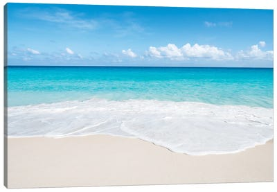 Turquoise Water At Anse Georgette Beach, Praslin, Seychelles Canvas Art Print
