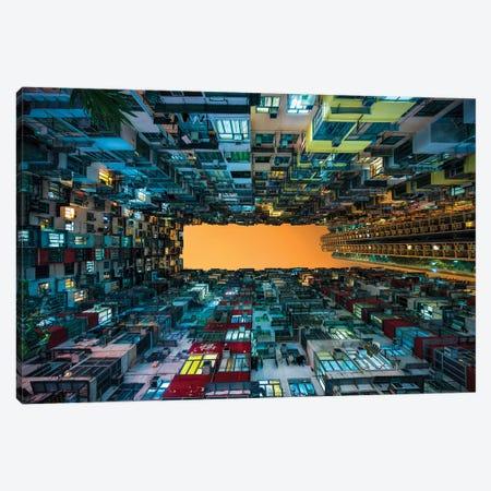Hong Kong apartment buildings Canvas Print #JNB128} by Jan Becke Canvas Art
