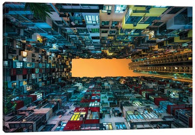 Hong Kong apartment buildings Canvas Art Print