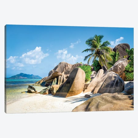 Beach Anse Source D'Argent, La Digue, Seychelles Canvas Print #JNB1299} by Jan Becke Canvas Art Print