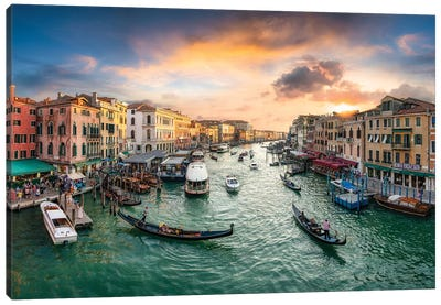 The Grand Canal in Venice, Italy Canvas Art Print