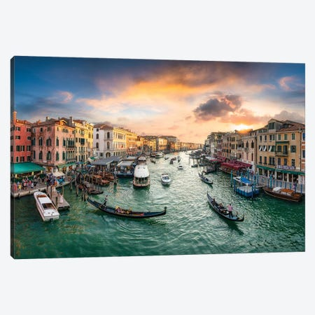 The Grand Canal in Venice, Italy Canvas Print #JNB129} by Jan Becke Canvas Art