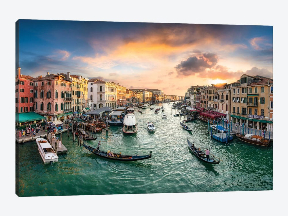 The Grand Canal in Venice, Italy by Jan Becke 1-piece Canvas Art Print