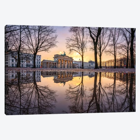 Brandenburg Gate In Winter Canvas Print #JNB12} by Jan Becke Canvas Artwork