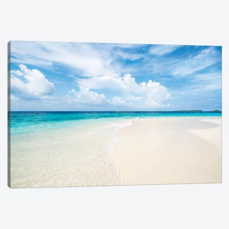 Beautiful Beach With White Sand And Turquoise Water Canvas Print #JNB130} by Jan Becke Canvas Print