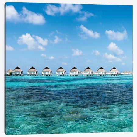 Overwater Villas At A Luxury Beach Resort In The Maldives Canvas Print #JNB136} by Jan Becke Canvas Artwork