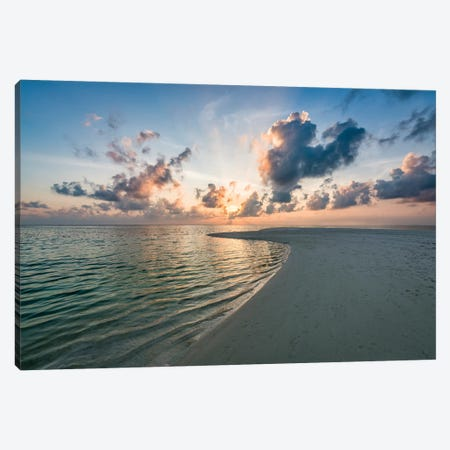 Beautiful Sunset On The Maldives Canvas Print #JNB137} by Jan Becke Canvas Wall Art
