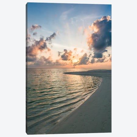 Sunset At The Beach Canvas Print #JNB138} by Jan Becke Art Print