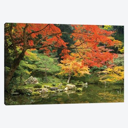 Japanese Garden In Autumn, Kyoto, Japan Canvas Print #JNB1421} by Jan Becke Canvas Wall Art
