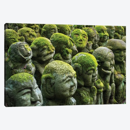 Buddhist Statues At The Otagi Nenbutsu-Ji Temple, Arashiyama, Kyoto, Japan Canvas Print #JNB1422} by Jan Becke Canvas Art