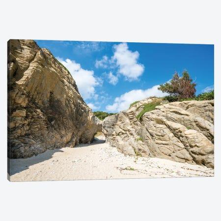 Stone Formation Near Aharen Beach, Tokashiki Island, Kerama Islands Group, Okinawa Canvas Print #JNB1433} by Jan Becke Canvas Art Print
