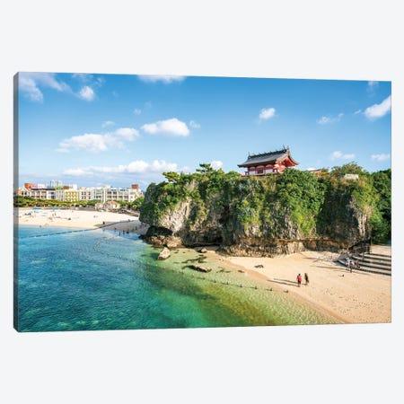 Naminoue Beach And Naminoue Shrine, Naha, Okinawa Canvas Print #JNB1438} by Jan Becke Canvas Print