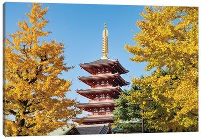 Five-Story Pagoda At The Sensō-Ji Buddhist Temple In Asakusa, Tokyo, Japan Canvas Art Print