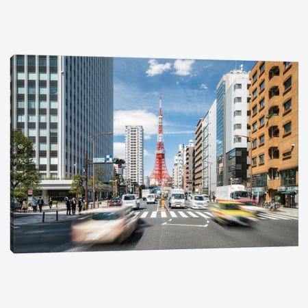 Tokyo Tower In Minato, Tokyo, Japan Canvas Print #JNB1448} by Jan Becke Canvas Wall Art