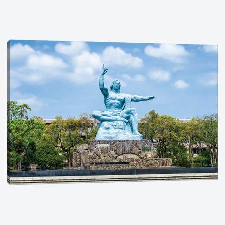 Peace Statue At The Nagasaki Peace Park, Nagasaki, Kyushu, Japan Canvas Print #JNB1457} by Jan Becke Canvas Artwork