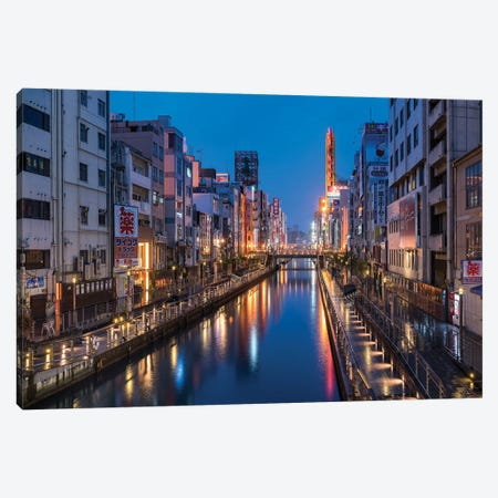 Dotonbori District At Night, Osaka, Kansai, Japan Canvas Print #JNB1465} by Jan Becke Canvas Art Print