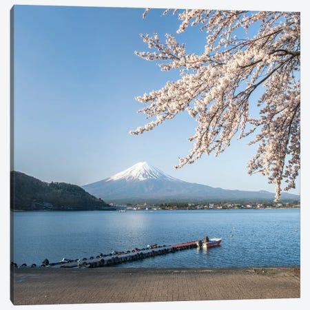 Mount Fuji In Spring, Lake Kawaguchiko, Japan Canvas Print #JNB1483} by Jan Becke Canvas Wall Art