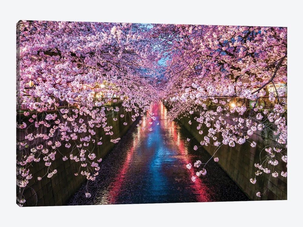 Nakameguro Cherry Blossom Festival, Tokyo by Jan Becke 1-piece Art Print