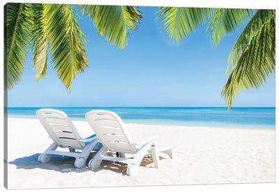Summer Holidays At The Beach Canvas Art Print