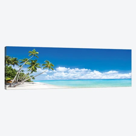 Beach Panorama With Palm Trees Canvas Print #JNB150} by Jan Becke Canvas Print