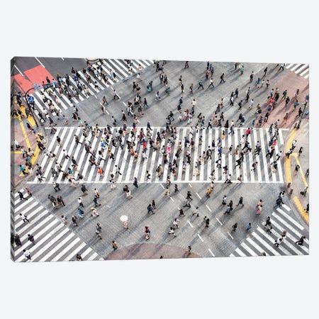 Aerial View Of Pedestrians At Shibuya Crossing, Tokyo, Japan Canvas Print #JNB1522} by Jan Becke Canvas Print