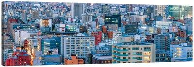 Urban Cityscape Panorama, Tokyo, Japan Canvas Art Print