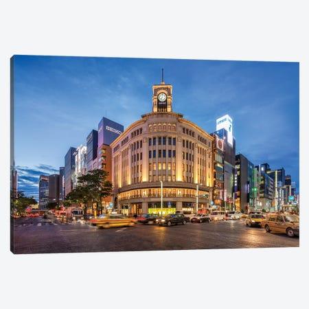 Wako Department Store, Ginza, Tokyo Canvas Print #JNB1533} by Jan Becke Canvas Artwork