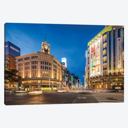 Wako Department Store In Ginza, Tokyo Canvas Print #JNB1534} by Jan Becke Canvas Art Print
