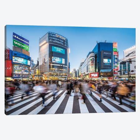 Shibuya Crossing In The Evening, Tokyo, Japan Canvas Print #JNB1539} by Jan Becke Canvas Artwork