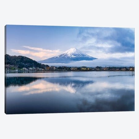 Mount Fuji At Sunrise, Lake Kawaguchiko, Japan Canvas Print #JNB1563} by Jan Becke Canvas Print