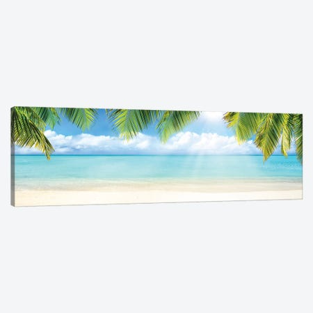 Tropical Beach With White Sand And Turquoise Sea Canvas Print #JNB158} by Jan Becke Canvas Print