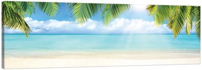 Tropical Beach With White Sand And Turquoise Sea Canvas Art Print