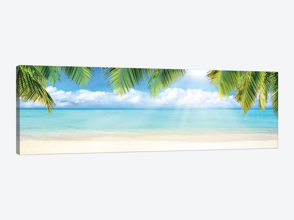 Tropical Beach With White Sand And Turquoise Sea by Jan Becke 1-piece Art Print