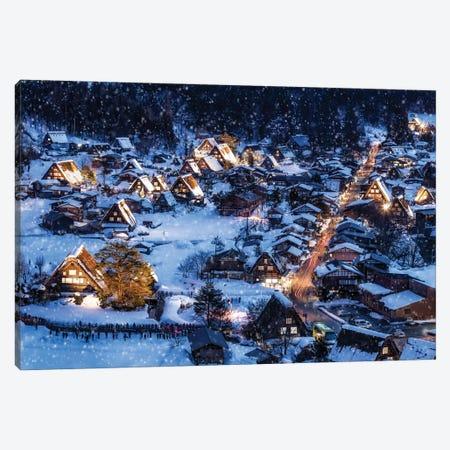 Shirakawago Light Up Event In Winter Canvas Print #JNB1595} by Jan Becke Canvas Print