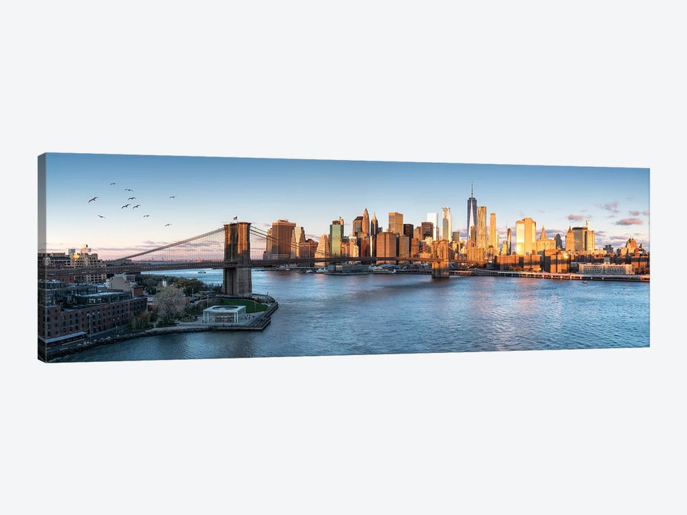 Brookyln Bridge And Manhattan Skyline by Jan Becke 1-piece Art Print