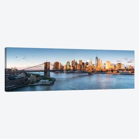 Brookyln Bridge And Manhattan Skyline Canvas Print #JNB15} by Jan Becke Art Print
