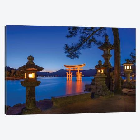 Torii Gate Of The Itsukushima Shrine On Miyajima Island Canvas Print #JNB1605} by Jan Becke Canvas Print